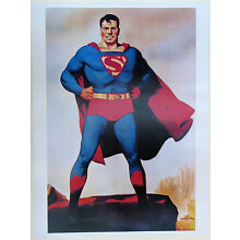 SUPERMAN POSTER Hugh J Ward image 1940's DC