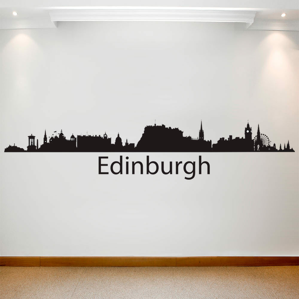 Details about large wall decal sticker art removable waterproof transfer cities edinburgh