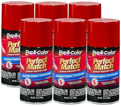 DupliColor Barcelona Red Metallic Toyota (3R3) 8 oz. Spray Paint (Pack of 6)