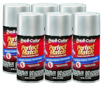 DupliColor Lunar Mist Silver Metallic Toyota (1C8) 8 oz. Spray Paint (Pack of 6)