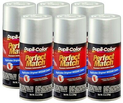 DupliColor Silver Metallic for Nissan (K23) 8 oz. Spray Paint (Pack of 6)