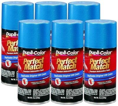 DupliColor Bahama Blue Metallic GM (WA9656) 8 oz. Spray Paint (Pack of 6)