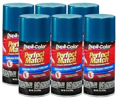 DupliColor Cayman Green Metallic Ford (DA) 8 oz. Spray Paint (Pack of 6)