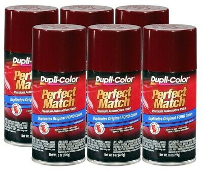 DupliColor Dark Canyon Red Ford (2H) 8 oz. Spray Paint (Pack of 6)