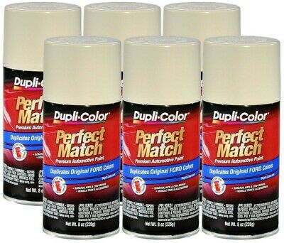 DupliColor Wimbledon White Ford (9A) 8 oz. Spray Paint (Pack of 6)