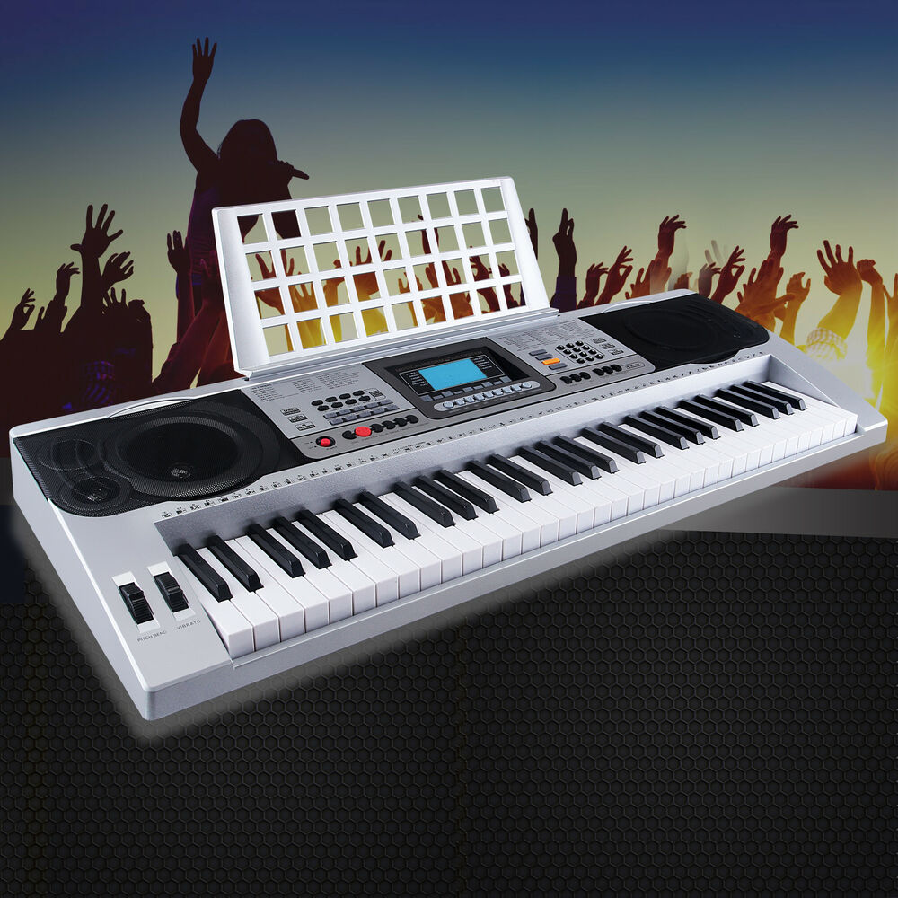 dakavia 61 key music digital electronic keyboard electric piano organ with stand 699931105016 ebay. Black Bedroom Furniture Sets. Home Design Ideas