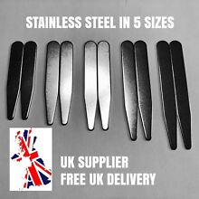 Metal Shirt Collar Stiffeners Choice of 5 Sizes 56 59 64 70 76mm Stainless Steel