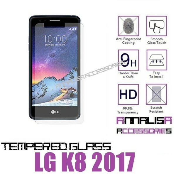 PELLICOLA VETRO TEMPERATO PER LG K8 2017 M200N PROTEZIONE DISPLAY TEMPERED GLASS