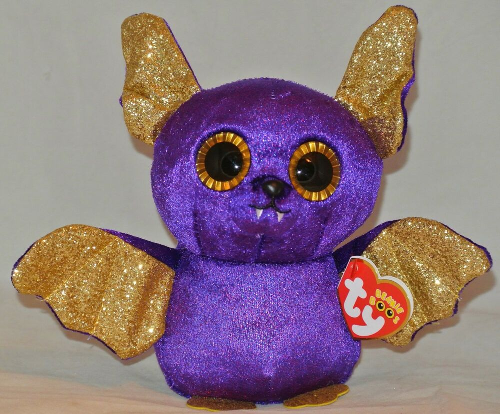 Details about 2018 Ty Beanie Boos Halloween COUNT the Purple Bat 6