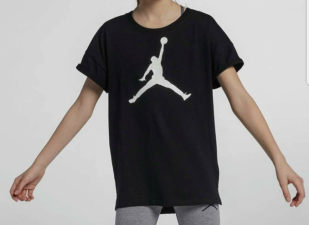 e4ec027e1d1 Details about Nike Air Jordan Girls AJ Jumpman Top Tee T-Shirt Size Large