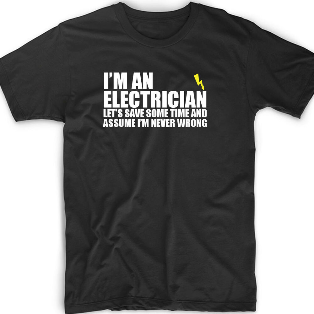 Keep Calm I/'m An Electrician Mens Long Sleeve T-Shirt Funny Occupation Tee
