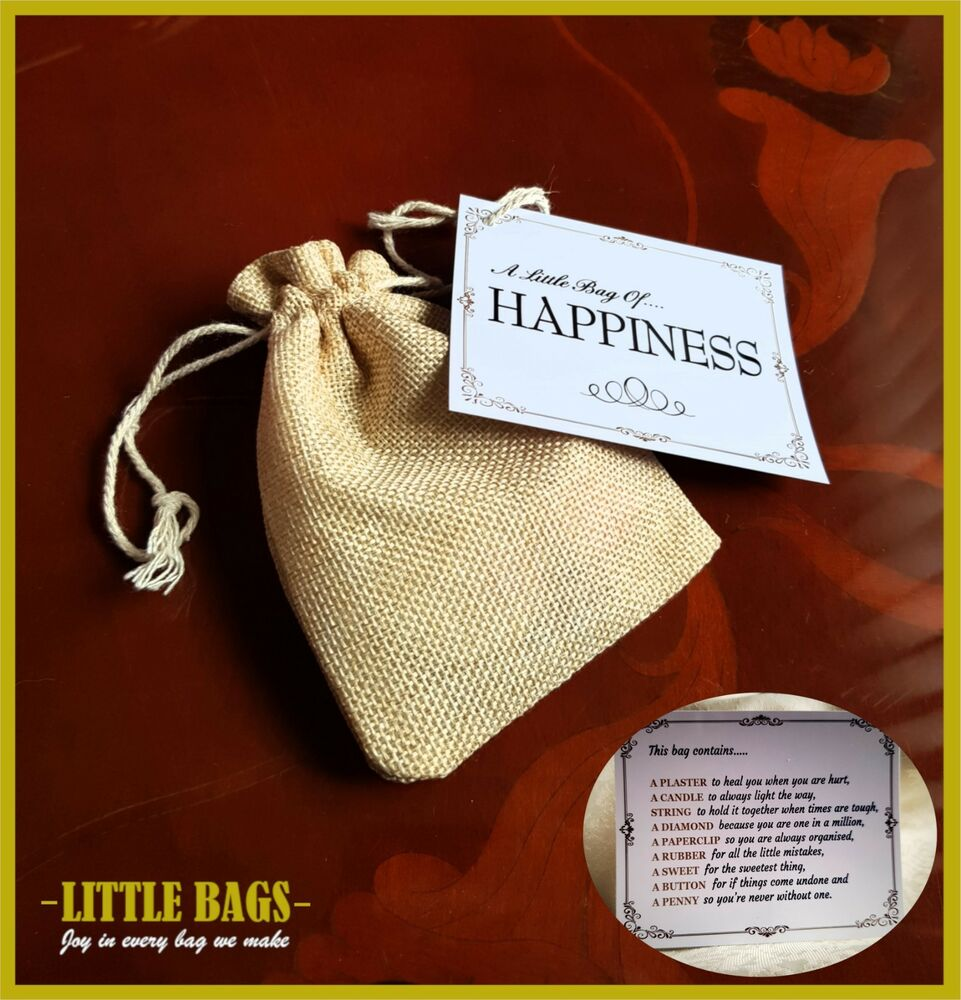 little bag of happiness gift bag fun novelty birthday wedding favour