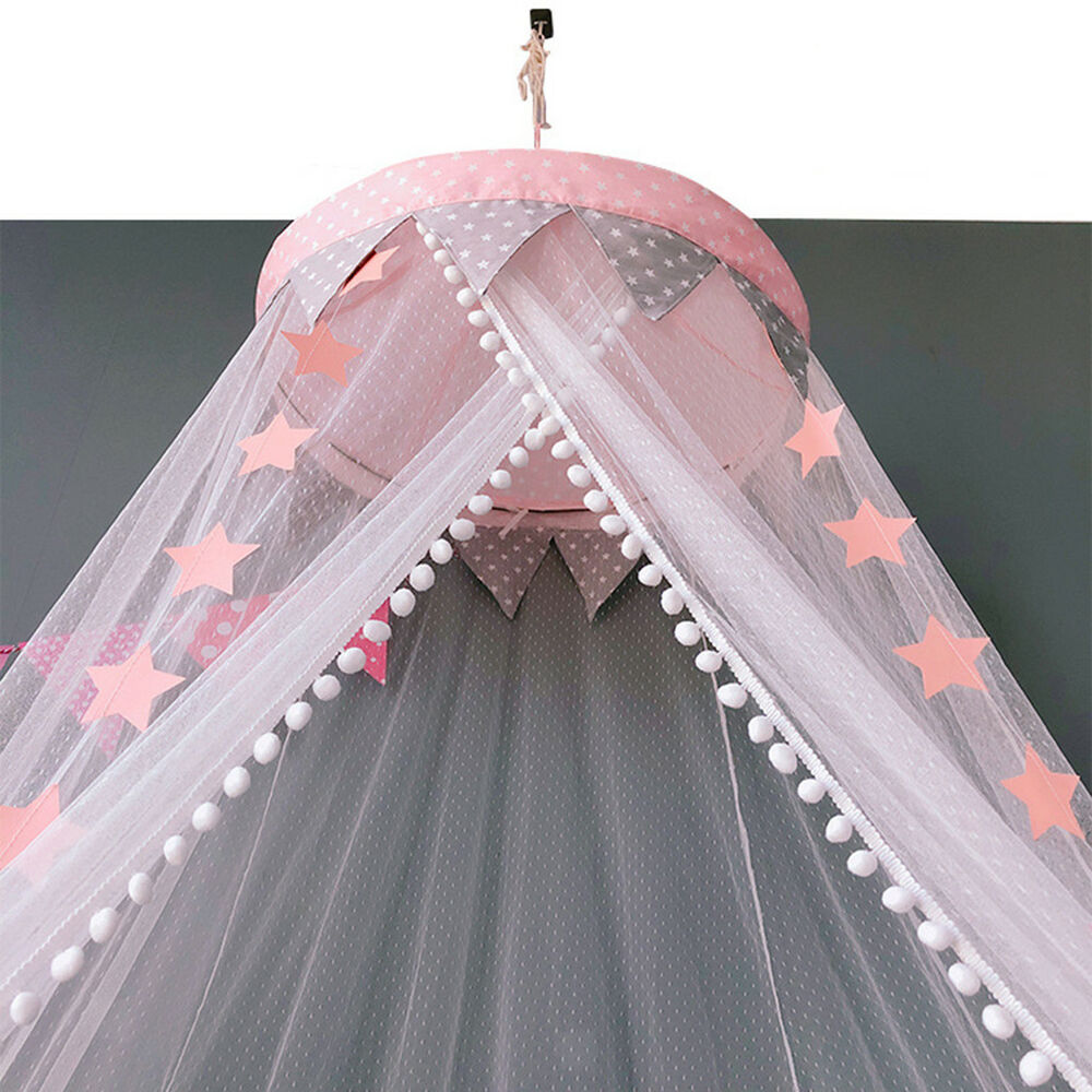 Details about Fairy Bed Canopy Mosquito Net Kid Castle Play Tent Crib Yarn Curtain Netting  sc 1 st  eBay & Fairy Bed Canopy Mosquito Net Kid Castle Play Tent Crib Yarn Curtain ...