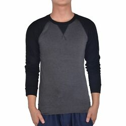 Hee Grand Mens Long Sleeve Fitted T-Shirt Chinese M Dark Gray