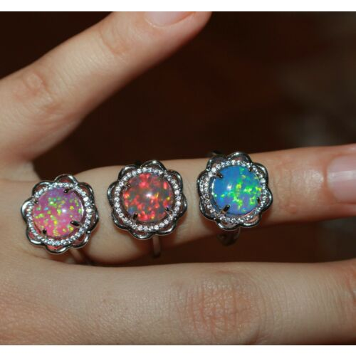 fire-opal-cz-ring-gems-silver-jewelry-sz-6-65-flower-cocktail-engagement-band-
