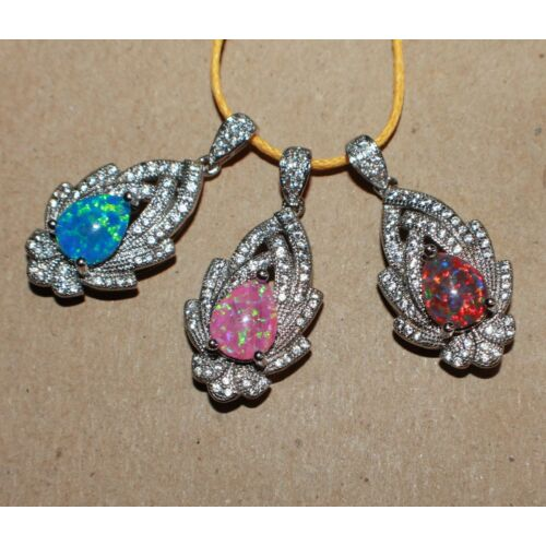 fire-opal-cz-necklace-pendant-gems-silver-jewelry-classic-vintage-style-cocktail