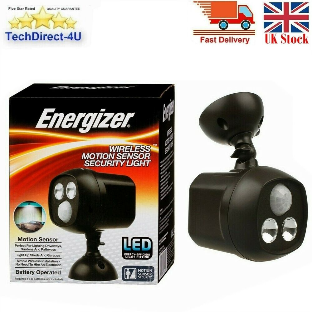 Energizer Led Motion Sensor Bright Security Light Battery Driveway Garden Shed 1000033862902 Ebay