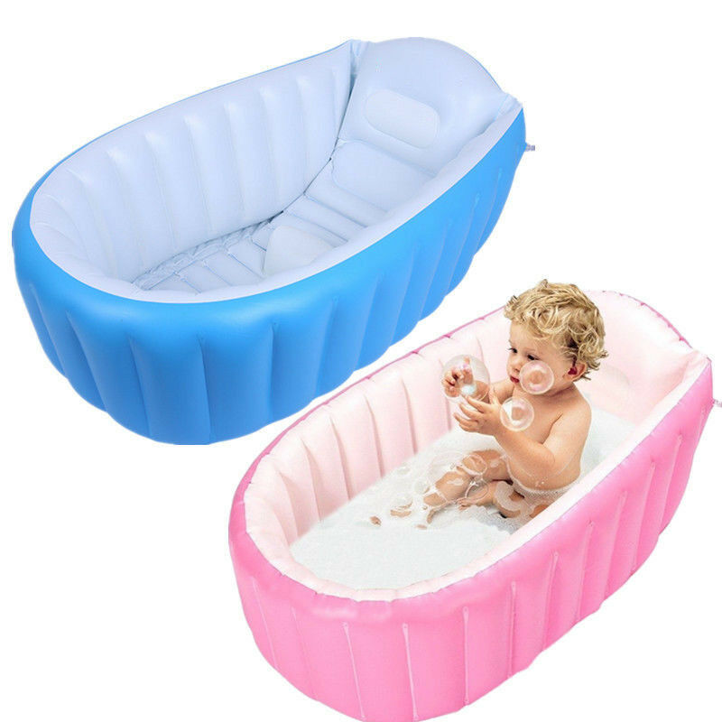Baby Inflatable Bathtub PVC Thick Portable Bathing Bath