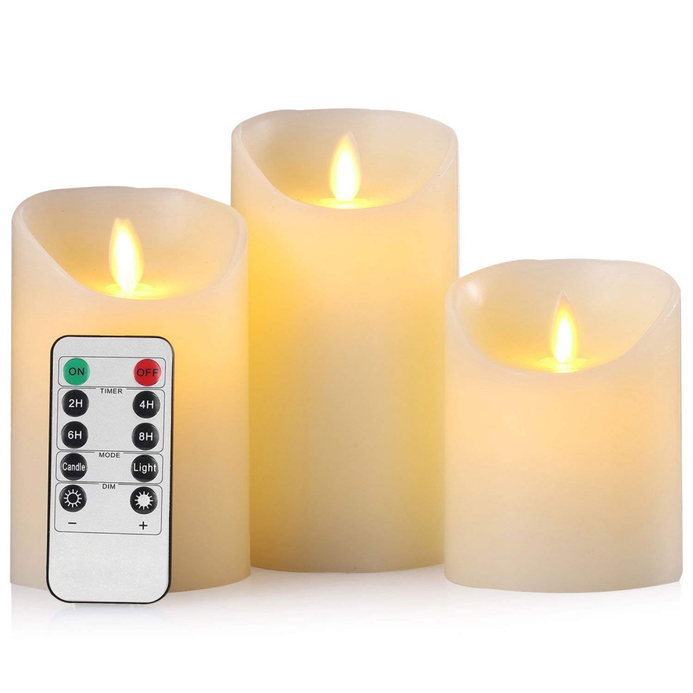 New Flickering Flameless Led Pillar Candles Moving Wick