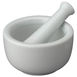 Pestle Classic Marble Natural Stone White Pestal And Set To Grind Food Mortar