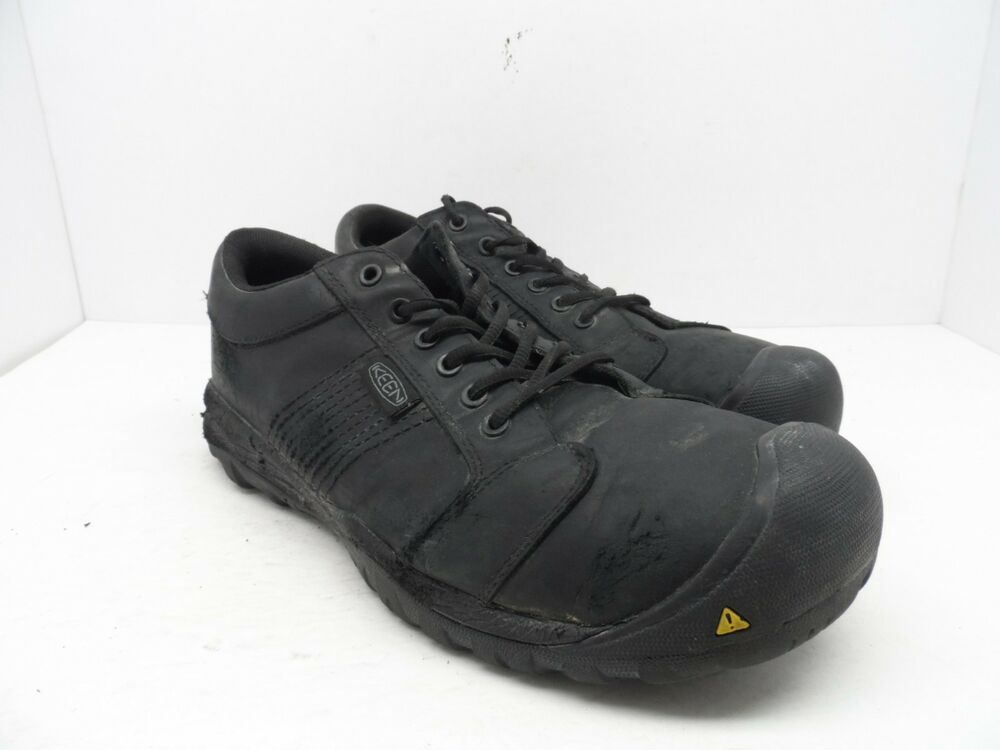 160d240dc5c Details about KEEN MEN S CSA LA CONNER Aluminum Toe Work Shoes Black Size  11D