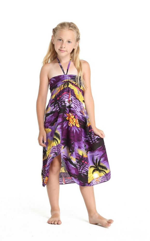 1dc9be661ab Hawaii Hangover Girl Hawaiian Luau Butterfly Floral Dress in Sunset Purple