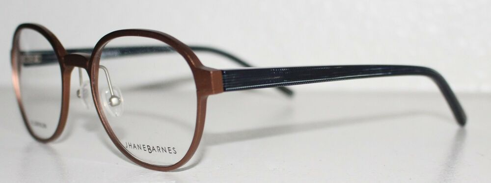 e4a21b273205 Details about JHANE BARNES SPHERE BROWN New Round Optical Eyeglass Frame  For Men