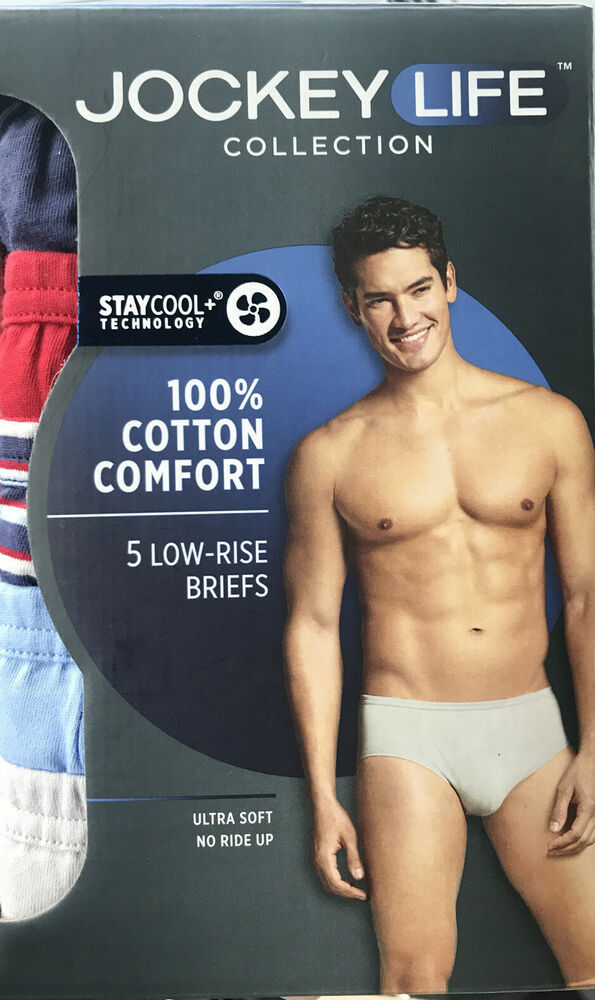 f423cb19a8c5 Jockey Life Collection Men's Low Rise Briefs 5-Pack 24/7 Comfort Cotton  X-Large | eBay