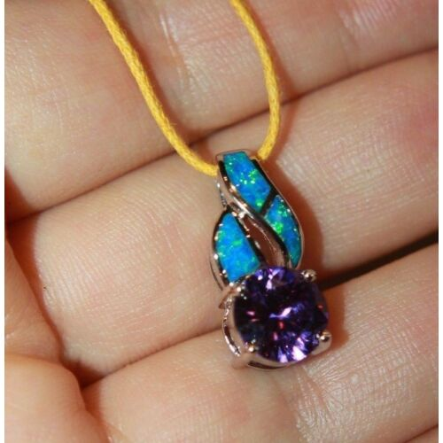 fire-opal-amethyst-necklace-pendant-gemstone-silver-jewelry-petite-cocktail-b5