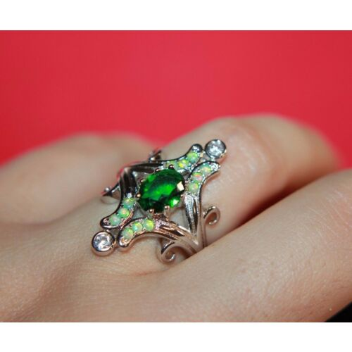 fire-opal-cz-topaz-ring-gems-silver-jewelry-55-8-cocktail-renaissance-victorian