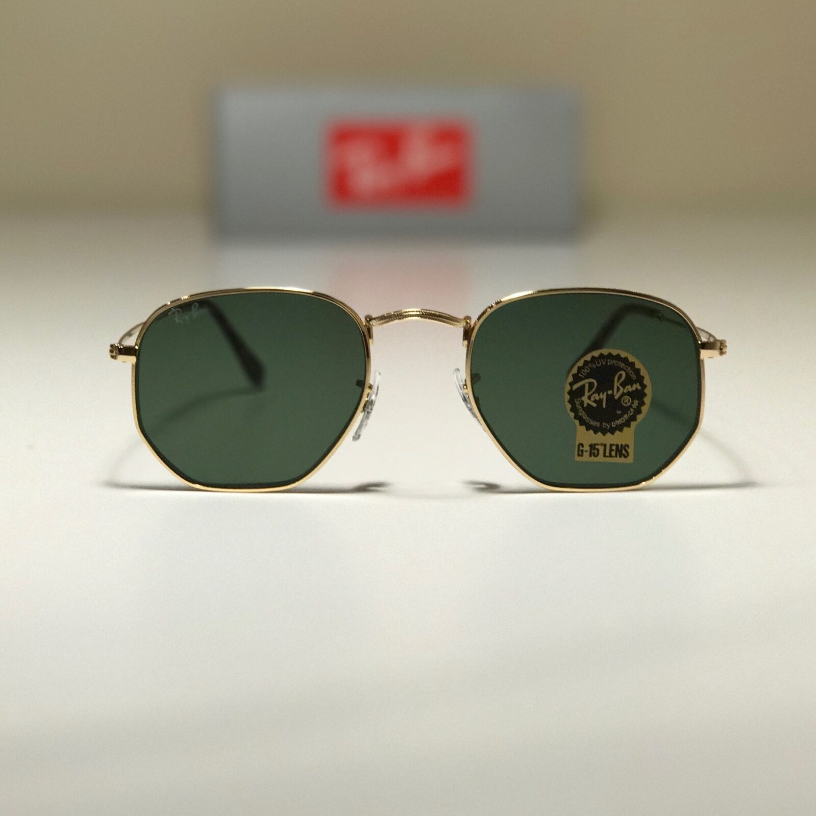 2acca50284 order ean 8053672611649 product image for original ray ban sunglasses  rb3548n gold frame 001 51mm green