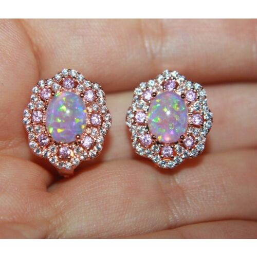 fire-opal-cz-earrings-gemstone-rose-gold-filled-jewelry-evening-cocktail-stud-r