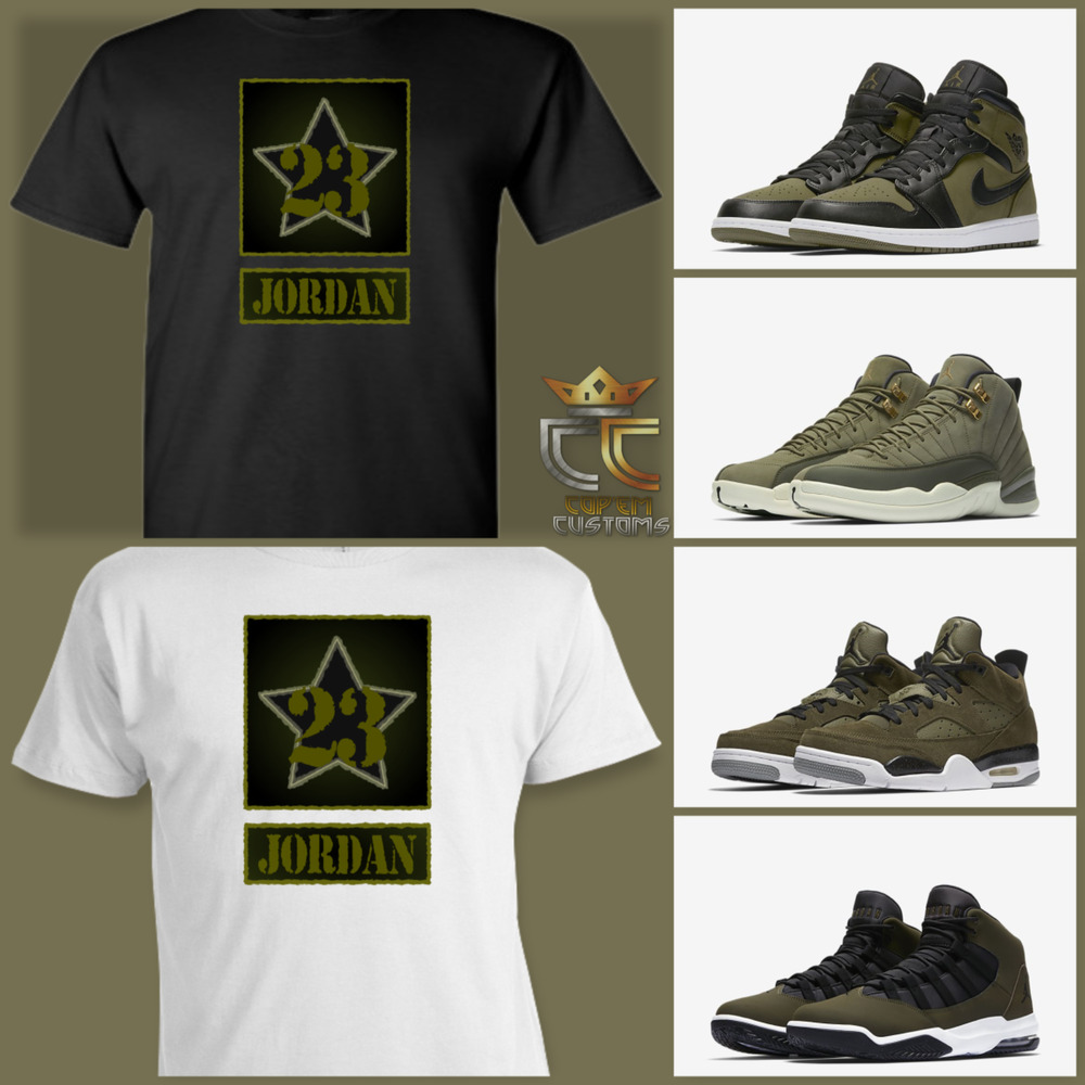 62c712f1d70a Details about EXCLUSIVE TEE T SHIRT to match ANY AIR JORDAN OLIVE GREEN BLACK CAMO  COLORWAY!