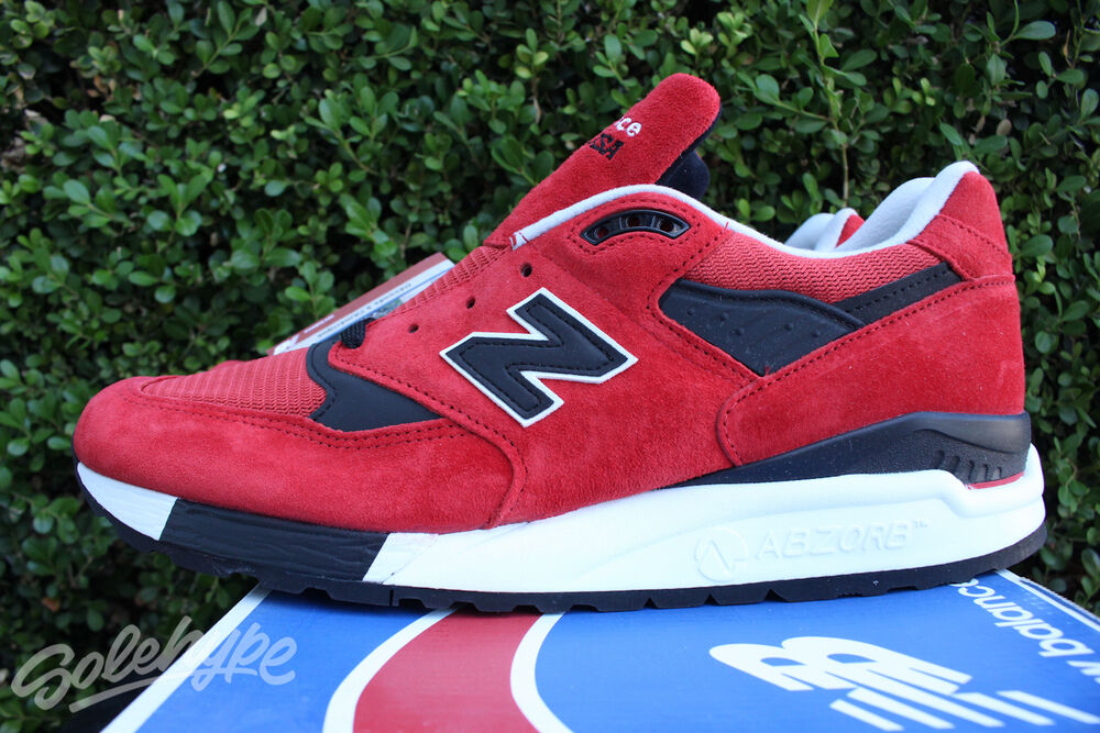 Details about NEW BALANCE 998 SZ 12 BLACK RED AMERICAN REBEL MADE IN THE  USA M998RO a4edcc3cb49