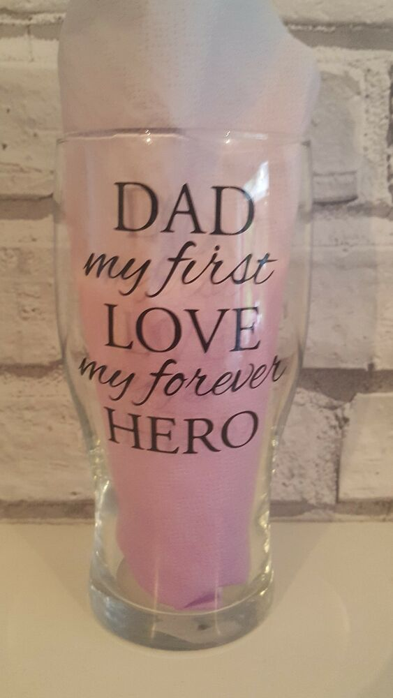 Fathers Day Gift Dad Pint Glass Birthday New Daddy