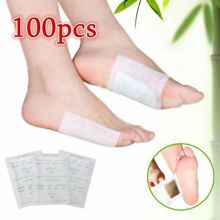 Detox Foot Pads Patch Detoxify Toxins+Adhesive Tape Keeping Fit Health Care 100x
