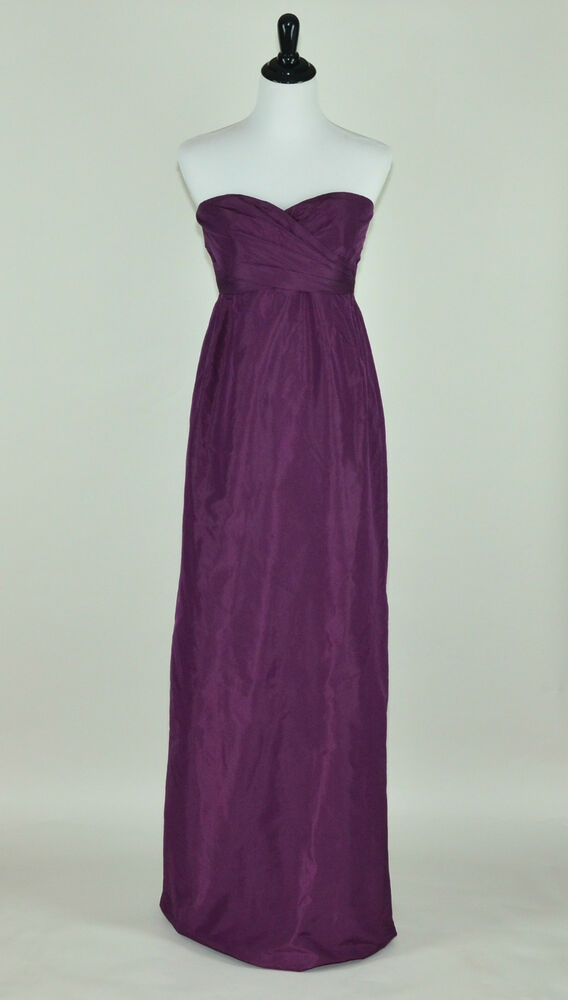 204e13465bd3e Details about J CREW COLLECTION $375 SILK TAFFETA ARABELLE GOWN 4 SPICED  WINE LONG DRESS PROM