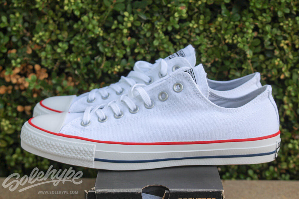 6b0970e72759e0 Details about CONVERSE ALL STAR CHUCK TAYLOR CTAS PRO OX SZ 11.5 WHITE RED  NAVY 147528C