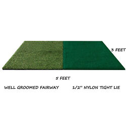 Kyпить 3'x5' Dual Synthetic Turf Golf Mat Chipping Fairway Driving Range Practice Mats  на еВаy.соm