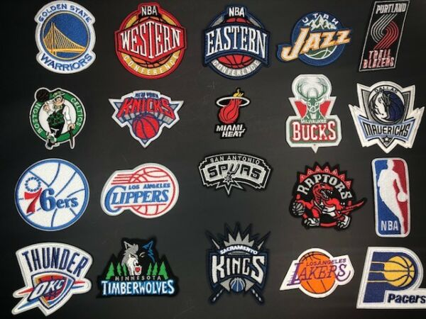 All NBA Basketball Team - Iron on Embroidered Clothing Patch !! US SELLER!!