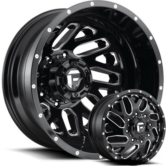 Fuel Tritons 22x8 25 Dually Wheels Dodge Ram 3500 Chevygmc Ford