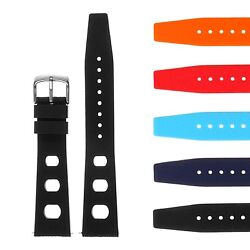 StrapsCo Vintage Silicone Rubber Rally Watch Band - Quick Release Strap