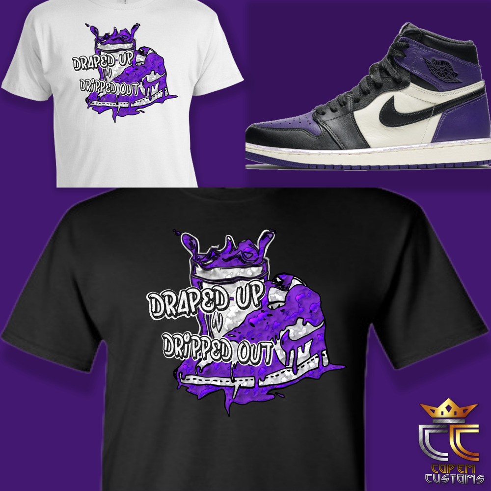 775852743b8570 Details about EXCLUSIVE TEE T SHIRT to match NIKE AIR JORDAN 1  COURT PURPLE   OR RAPTORS!