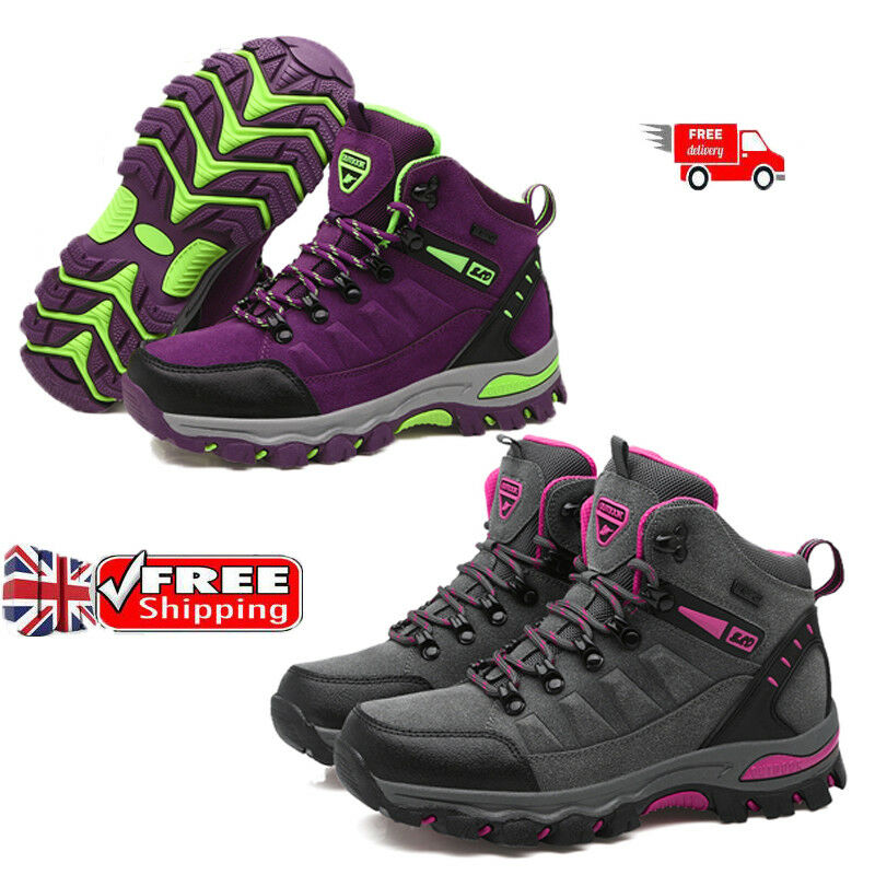 new styles da21c 72c3d Details about Women s Outdoor Walking Boots Waterproof Walking Trail Hiking  Boots Free Uk SZIE