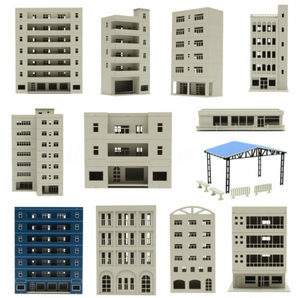 Outland Models Railway Modern City Office Industrial Building N HO OO For Gundam