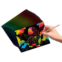 Kyпить VHALE 30 Scratch Art Rainbow Paper Scratchboard for Kids Craft Drawing Writing на еВаy.соm