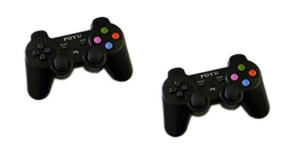 Kit 2 Controllers Compatibili PS3 PC Joystick Wireless Senza Filo Vibrazione