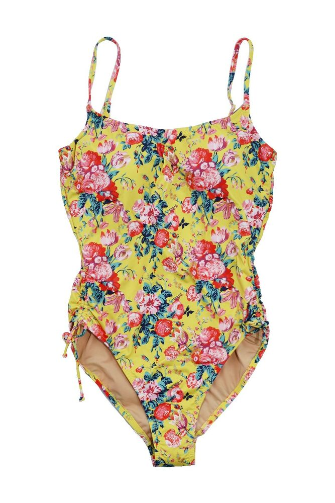 319ca6d829 Details about J.Crew Liberty of London - NWT$128 - Women's One-Piece Yellow Floral  Swimsuit