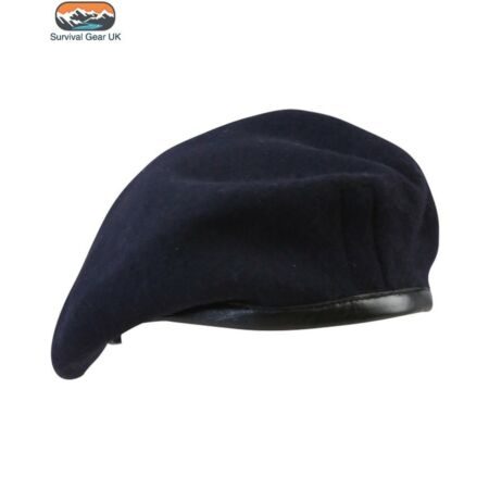 img-BRITISH ARMY STYLE BERET 100% WOOL SOLDIER CADET NAVY BLUE WITH BADGE SUPPORT