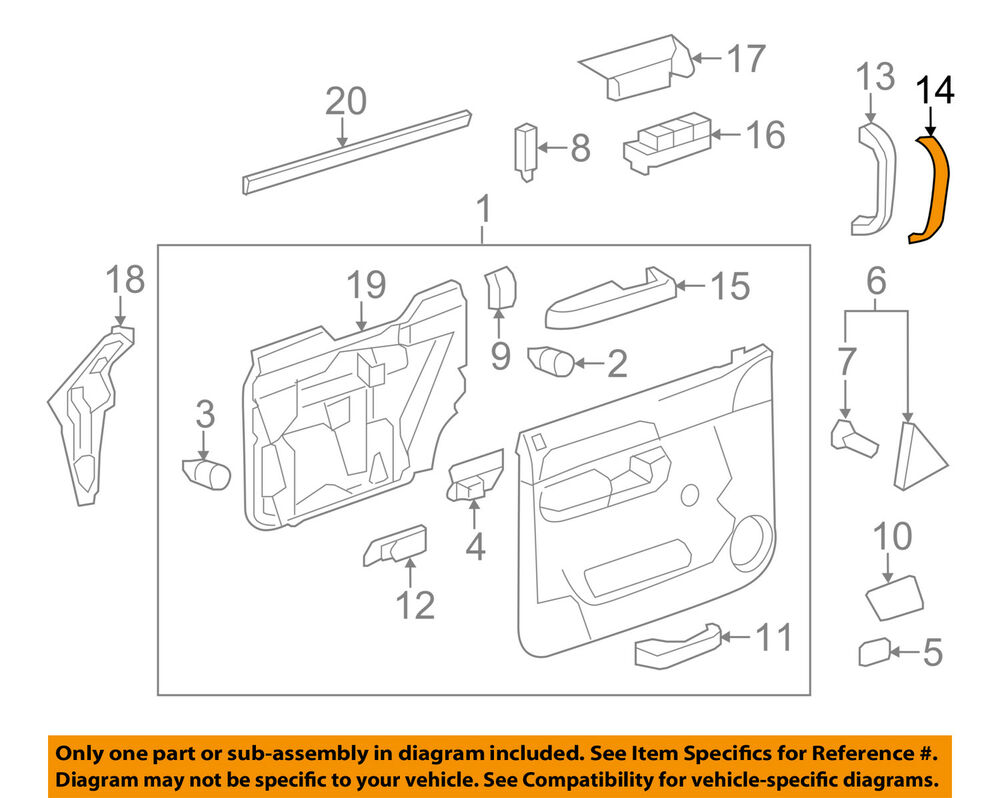Swell Gm Oem Front Door Handle Cover Right 15803996 Ebay Wiring 101 Akebwellnesstrialsorg